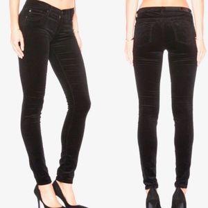 AG The Legging Super Skinny Super Black Velvet